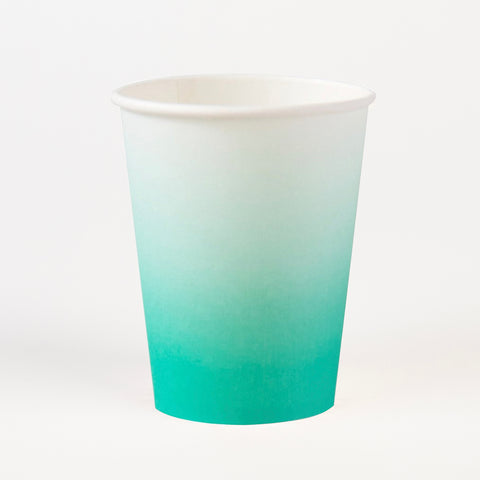 8 cups - Teal ombre