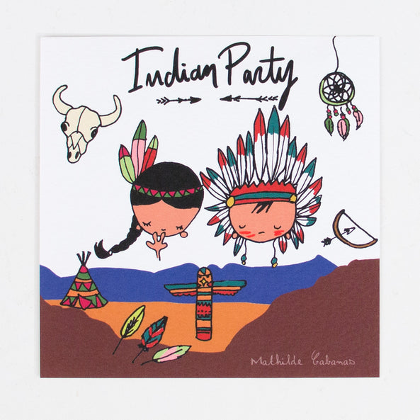 6 invitation cards - Indian party - M. Cabanas