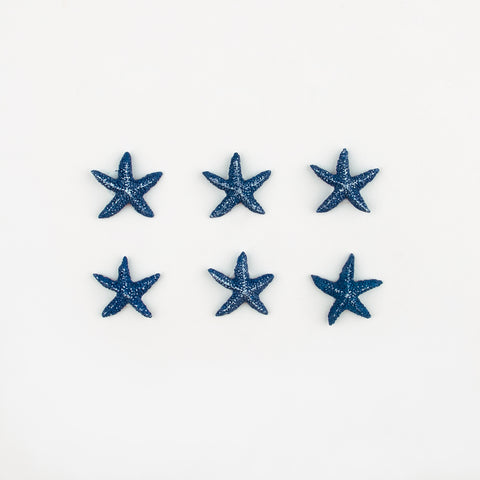 12 stickers - Blue Starfish
