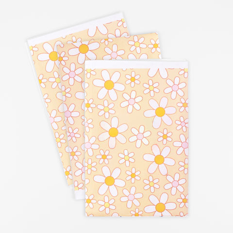 3 sheets of wrapping paper - Daisy