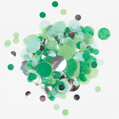 Confetti My Little Day - Green and silver