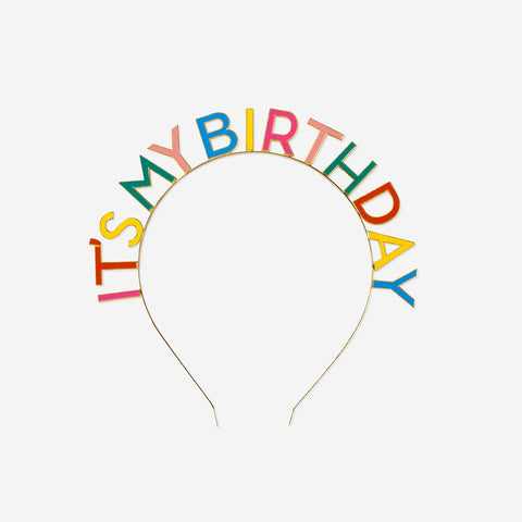 1 Happy birthday headband - Rainbow