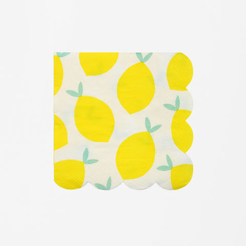 20 small napkins - Lemon