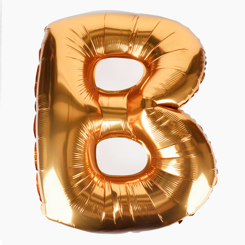 Foil balloon - Big bold letter - Gold