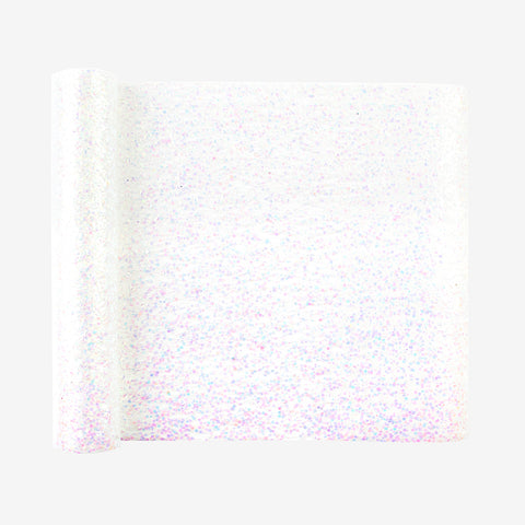 1 glitter table runner - White