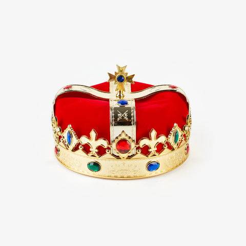 Queen's crown with jewels - gold