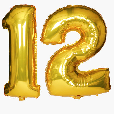 Big gold foil balloon - Bold number