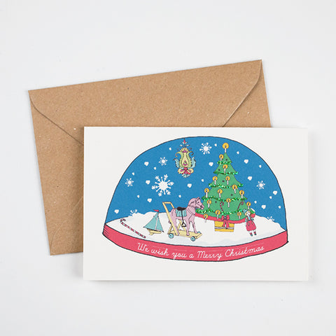 1 Snowdome Christmas card - Christmas tree