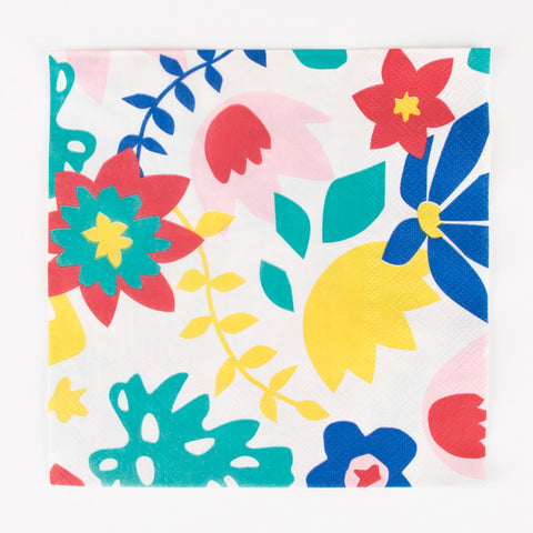 20 napkins - Tropical flowers