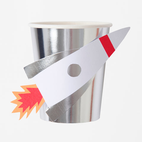 8 cups - Rocket party