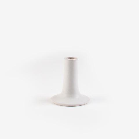 Tadelakt Candle Holder - White