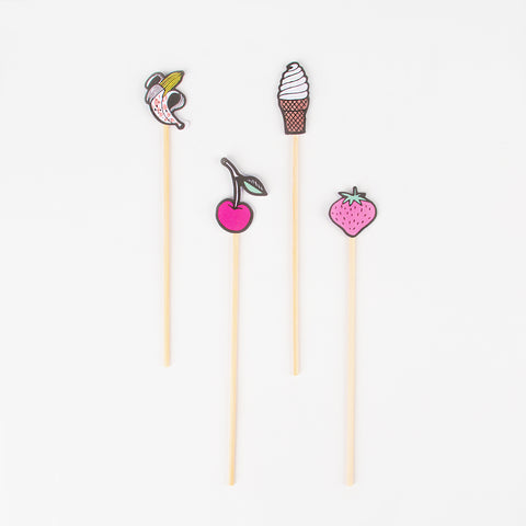 24 cocktail sticks - Sweets