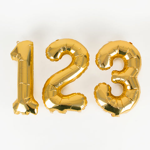 Small gold foil balloon - Number