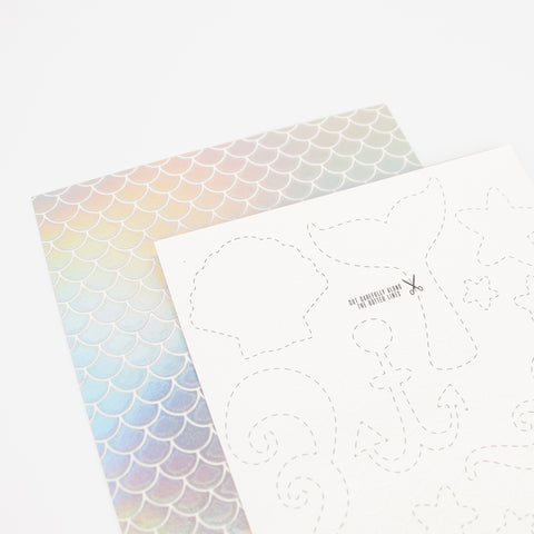 2 sheets of tattoos - Mermaid scales