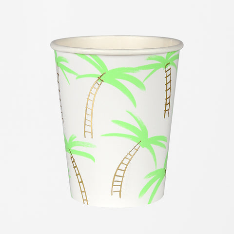 8 cups - Large palm trees