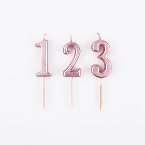 Birthday candle - rose gold