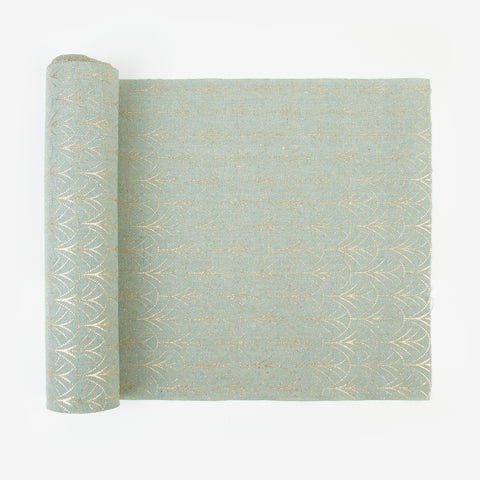 Table runner - Green Art Deco
