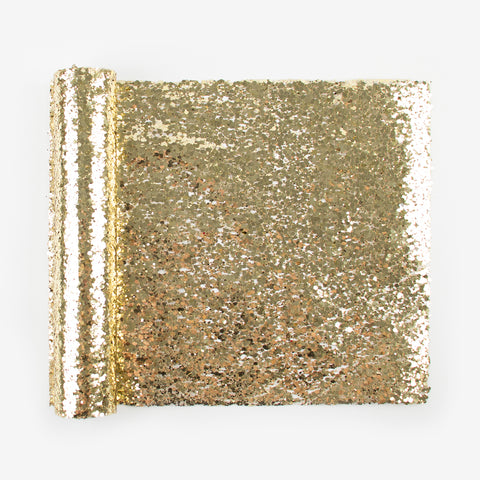 1 glitter table runner - Gold