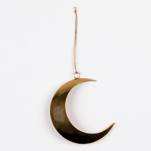 1 small decoration - Golden moon