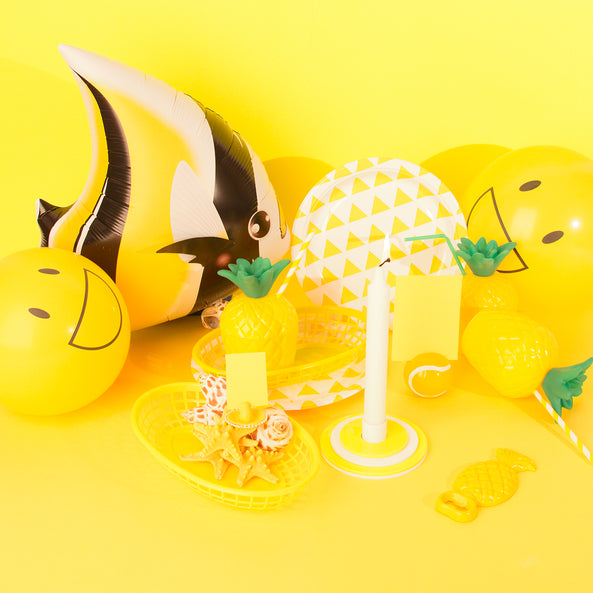 Foil balloon - Yellow tropical fish