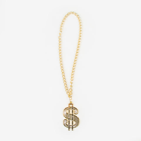 Dollar chain necklace - gold