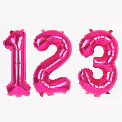 Small pink foil balloon - Number
