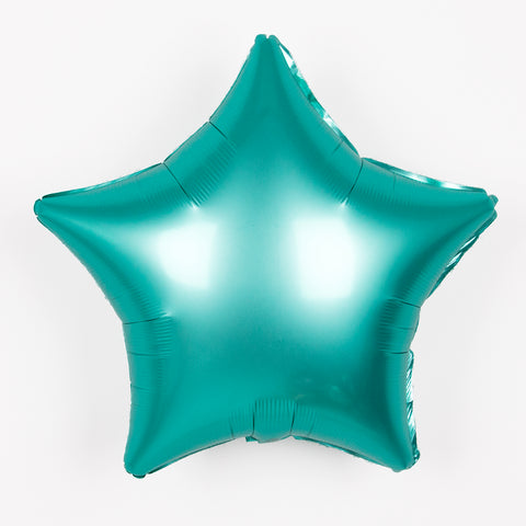 Foil balloon - Matt aqua Star