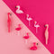 5 bougies - Flamants roses