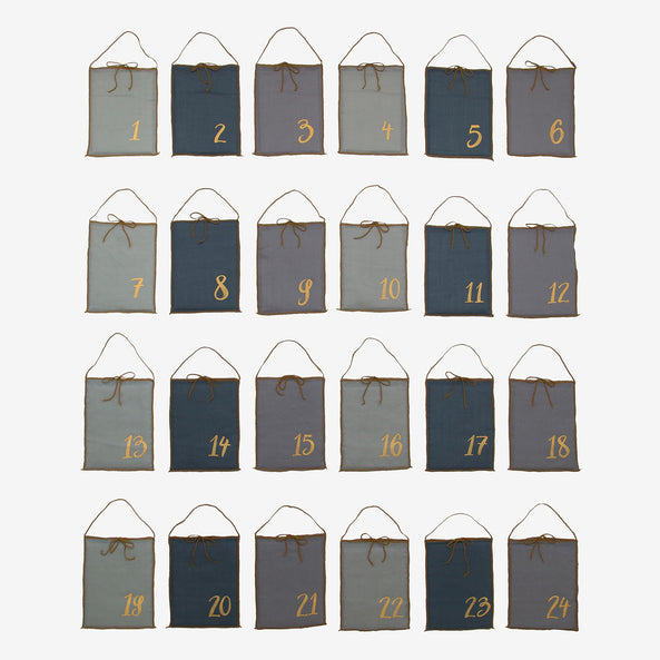 24 Advent Calendar bags - Blue mix