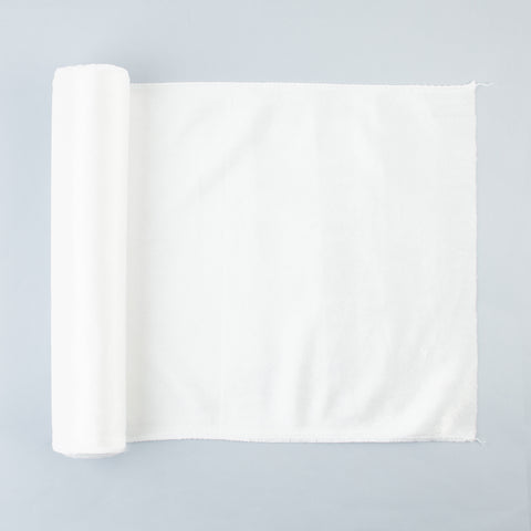 1 velvet table runner - White