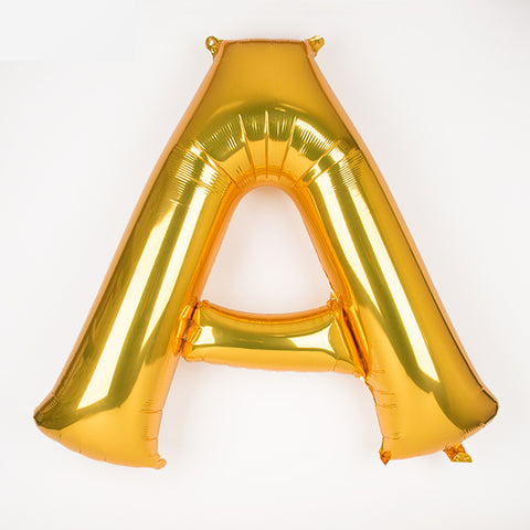 Big gold letter foil balloon