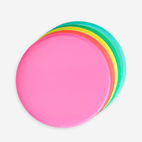 8 plates - Rainbow multicolor - Set