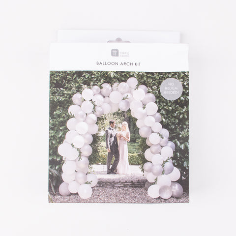 80 balloons arch kit - White and grey