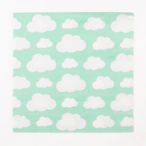 20 napkins - Clouds