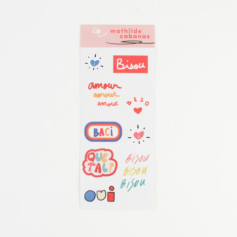 1 sheet of Love stickers - Mathilde Cabanas