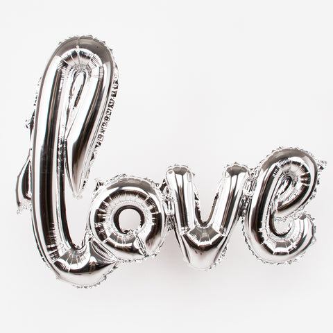 Silver Foil balloon - Love bold