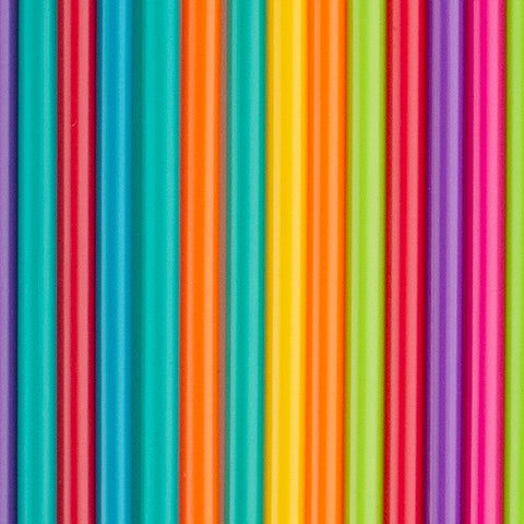 24 reusable straws - Multicolour