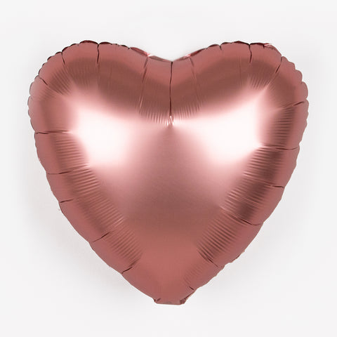 Foil balloon - Matt pink heart
