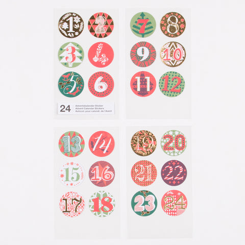 Advent Calendar stickers - Multicoloured