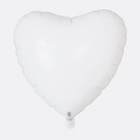 Foil balloon - White heart