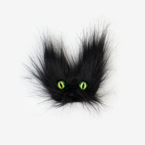 1 hair clip - Black cat's head