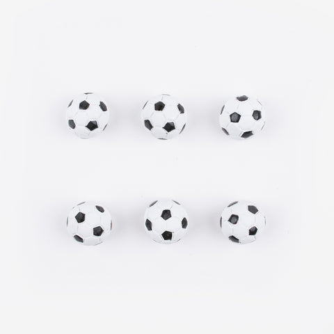 6 small table decorations - Soccer ball