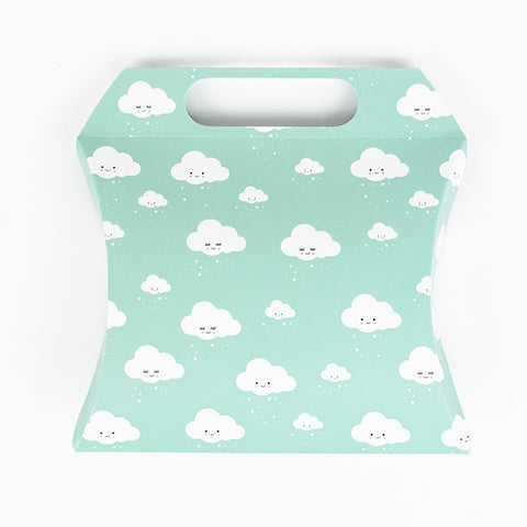 1 blue giftbox - clouds