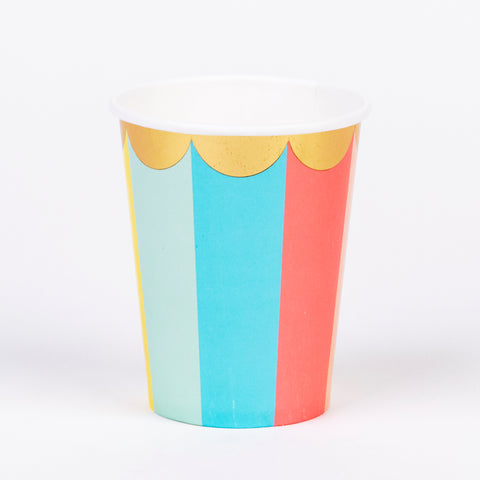8 cups - Pastel candy stripes