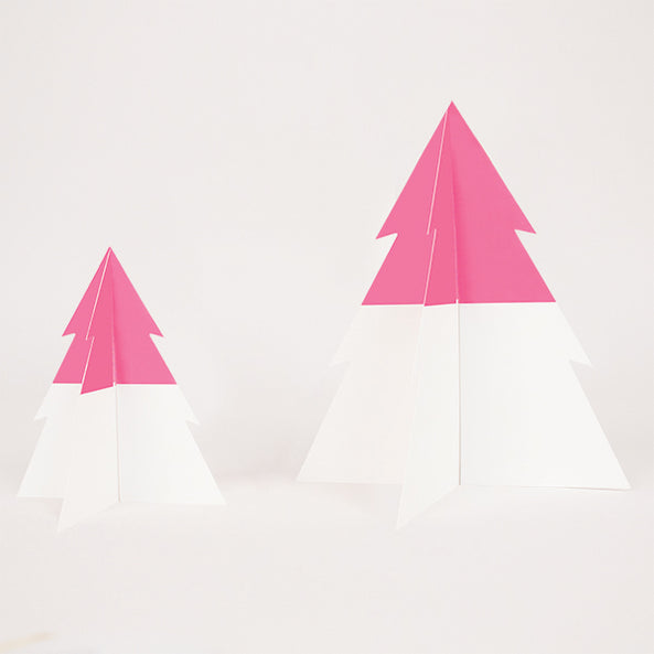 two-colored Christmas tree - bright pink & white