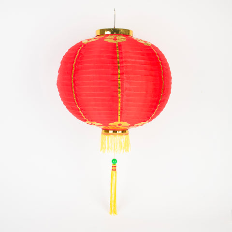 1 large chinese Lantern - Red and gold