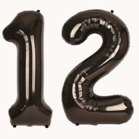 Big foil balloon - Number - Black