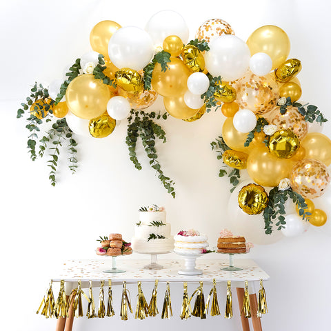 70 balloons arch kit - Gold