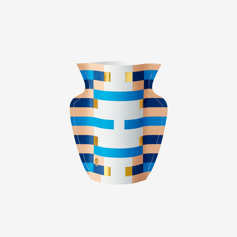 Costa Small Paper Vase - gold/blue