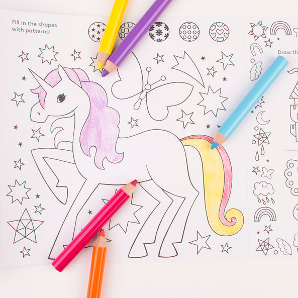 Roll of colouring paper - Magic Unicorn